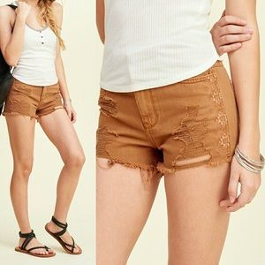 Hollister Tribal Embroidered Frayed Shorts - 9/W29